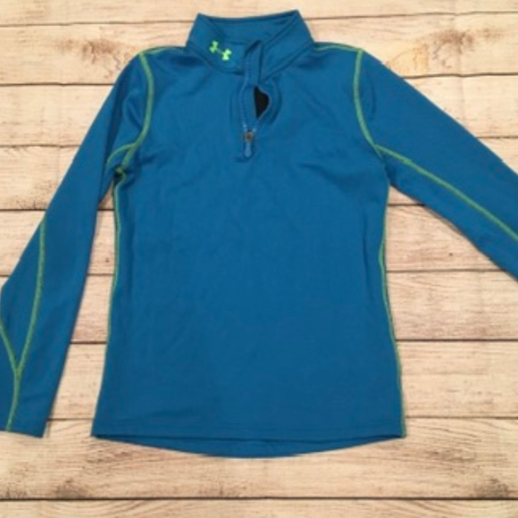Girl's Under Armour 1/4 Zip Athletic Top (YMed)